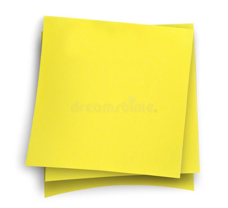 zauważy trzy kleistego żółty zdjęcie royalty free