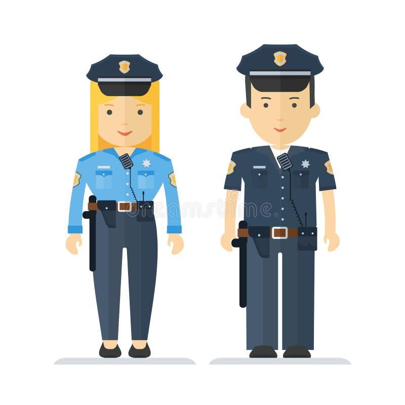 Zawód kobieta i policjant ilustracja wektor