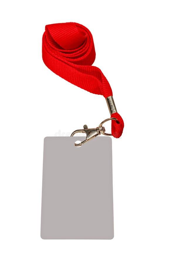 Zawalony czerwony faborek obraz royalty free