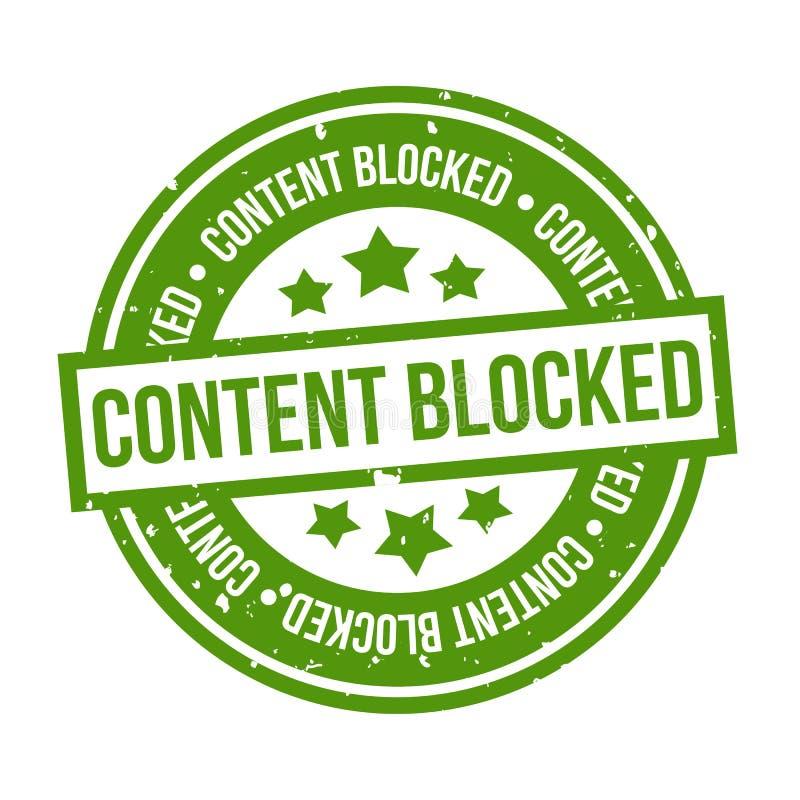 Zawartość blokujący Grunge znaczek ilustracja wektor