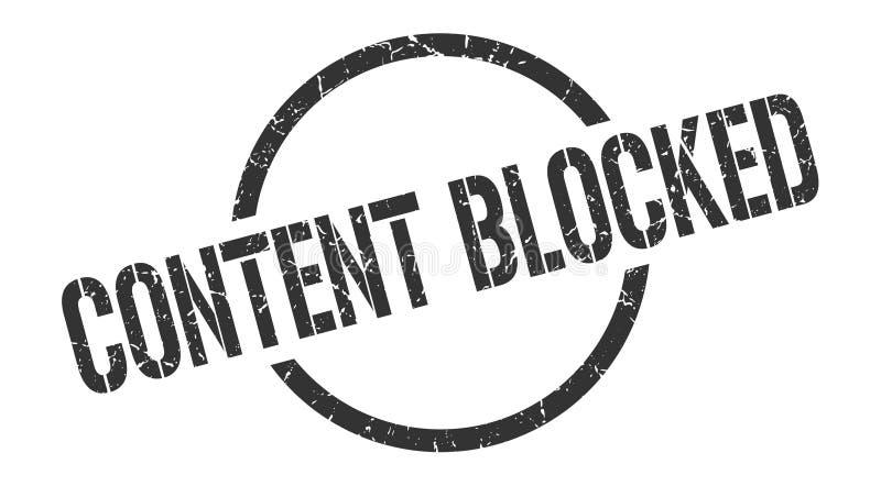 Zawartość blokujący znaczek ilustracji