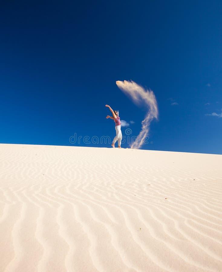 Zawdzięczający sobie piasków krasnoludkowie fotografia stock