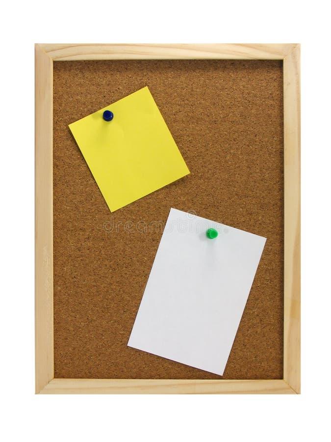 zawiadomienia deskowy pinboard zdjęcia stock