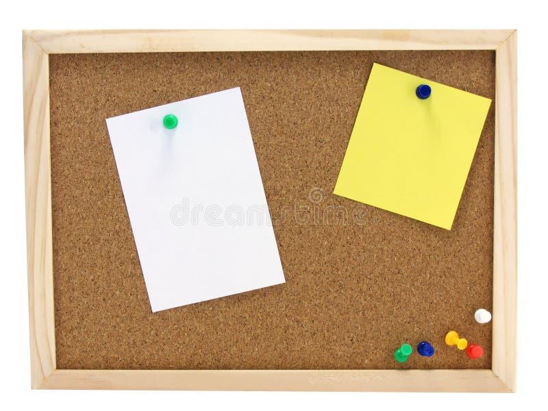 zawiadomienia deskowy pinboard zdjęcie royalty free