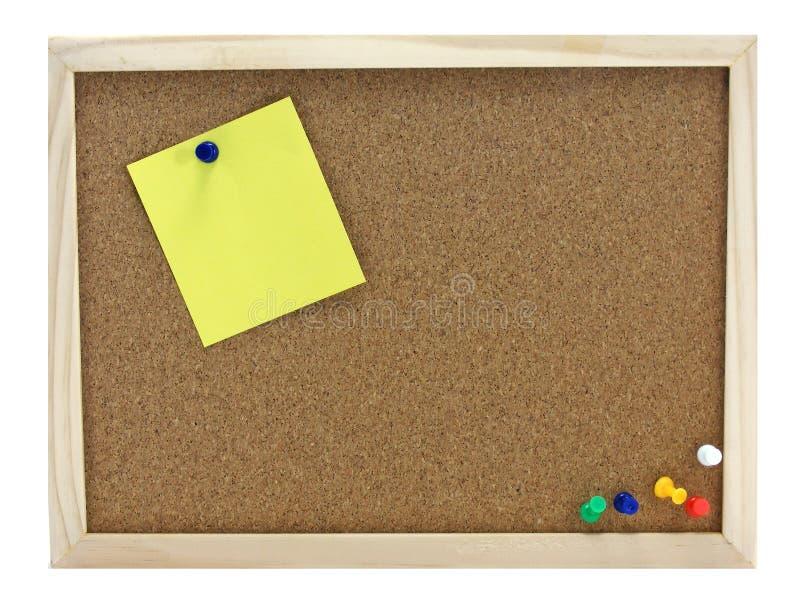 zawiadomienia deskowy pinboard zdjęcie stock