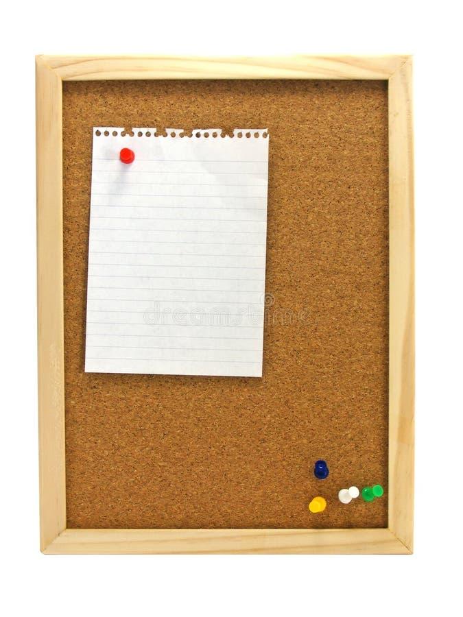zawiadomienia deskowy pinboard fotografia stock