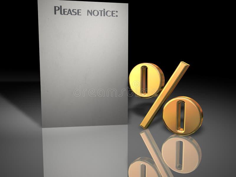 zawiadomienie o procent royalty ilustracja