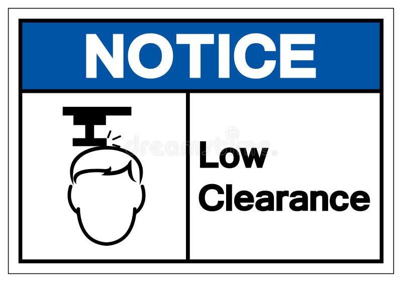 Zawiadomienie symbolu Niski Poremanentowy znak, Wektorowa ilustracja, Odizolowywa Na Białej tło etykietce EPS10 ilustracja wektor