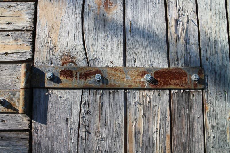 Zawias z śrubami na drzwi obraz royalty free
