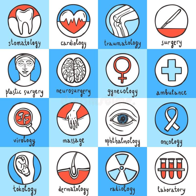 zawiera wycinek cyfrowej medycznego ilustracyjnego ikony ścieżki zestaw royalty ilustracja