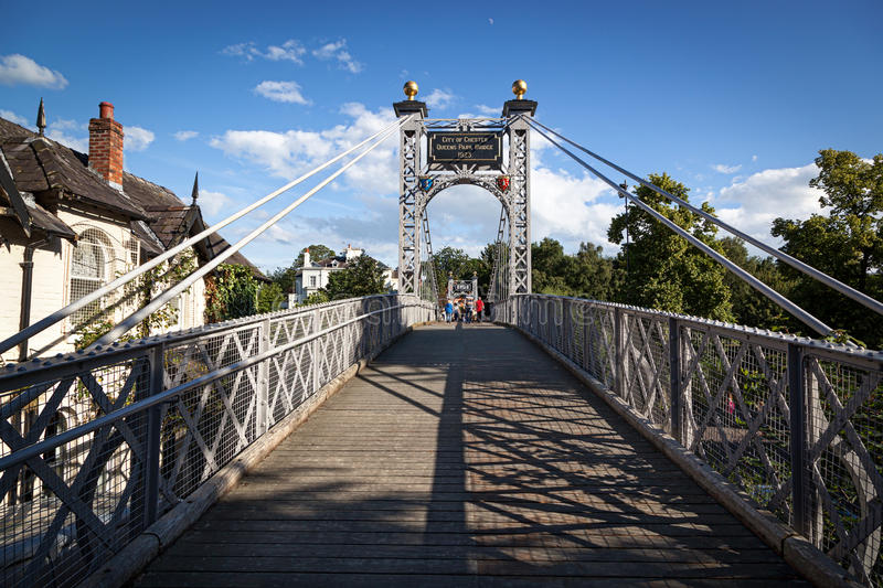 Zawieszenia Footbridge Chester obraz stock