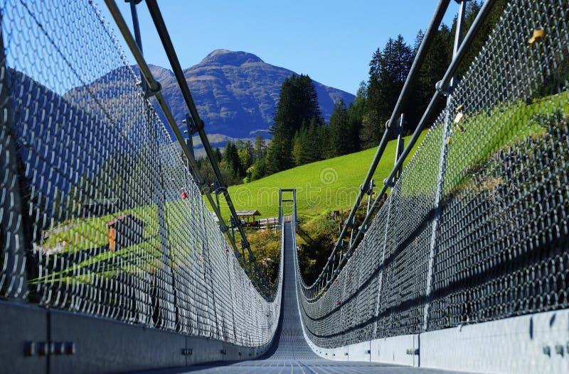Zawieszenie most Holzgau obraz stock