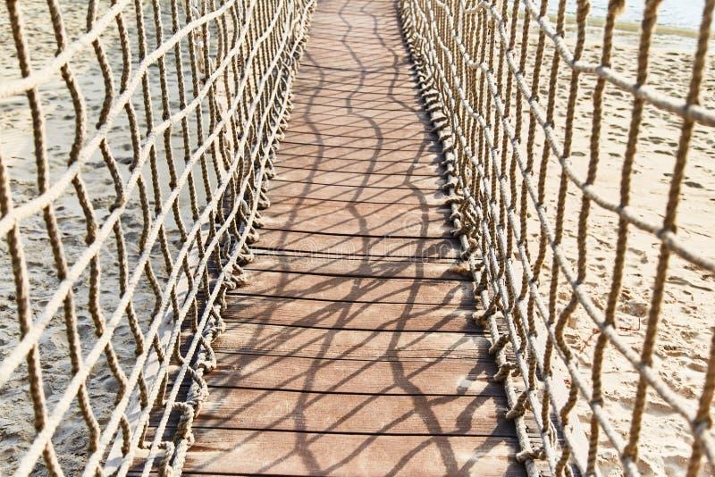 Zawieszenie most przez wodę na wyspie Sentosa obrazy stock