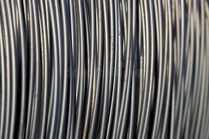 zawijający kablowy drut fotografia royalty free