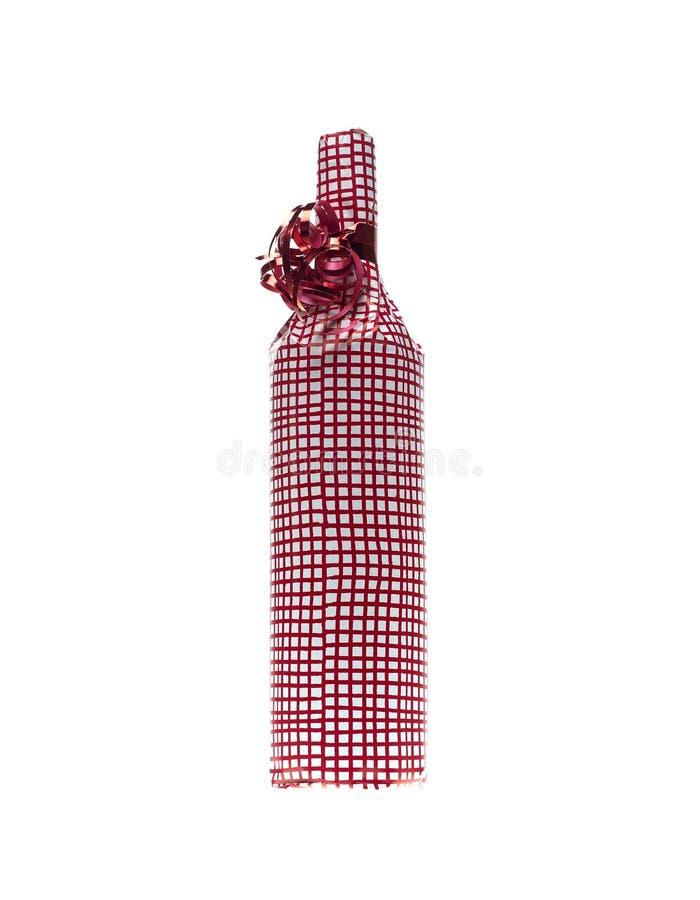 Zawijający w wino butelce zdjęcia royalty free