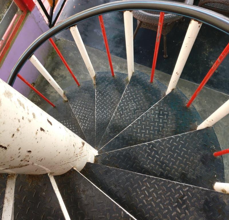 Zawijas lub ślimakowaty schody obraz stock