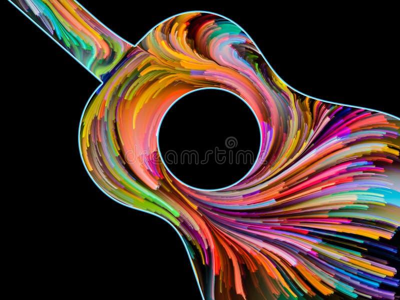 Zawijas Malująca gitara royalty ilustracja