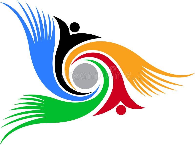 Zawijasa istoty ludzkiej logo ilustracji