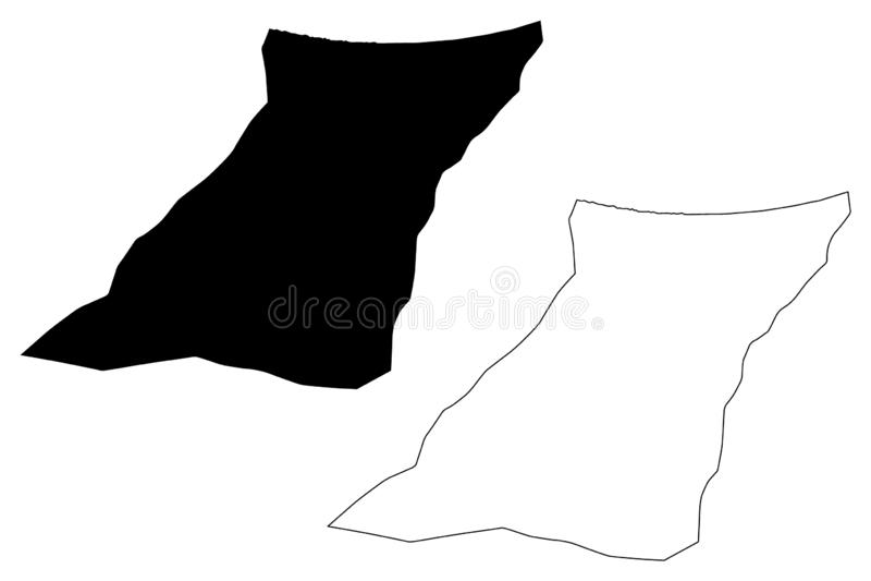Zawiya District Districts of Libya, State of Libya, Tripolitania map vector illustration, scribble sketch Zawia map.  stock illustration