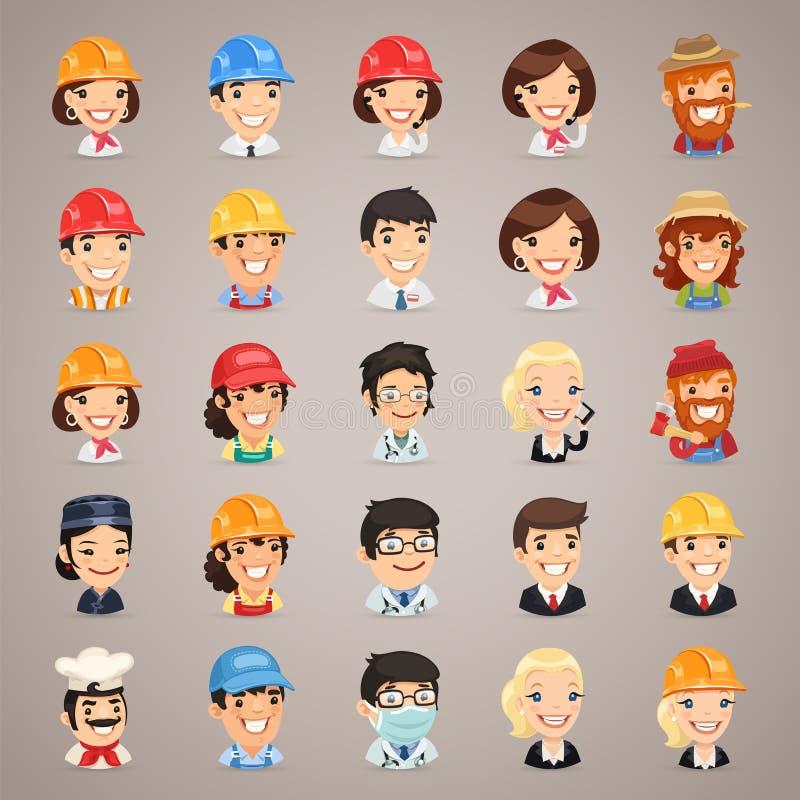Zawodów charakterów Wektorowe ikony Set1.3 royalty ilustracja