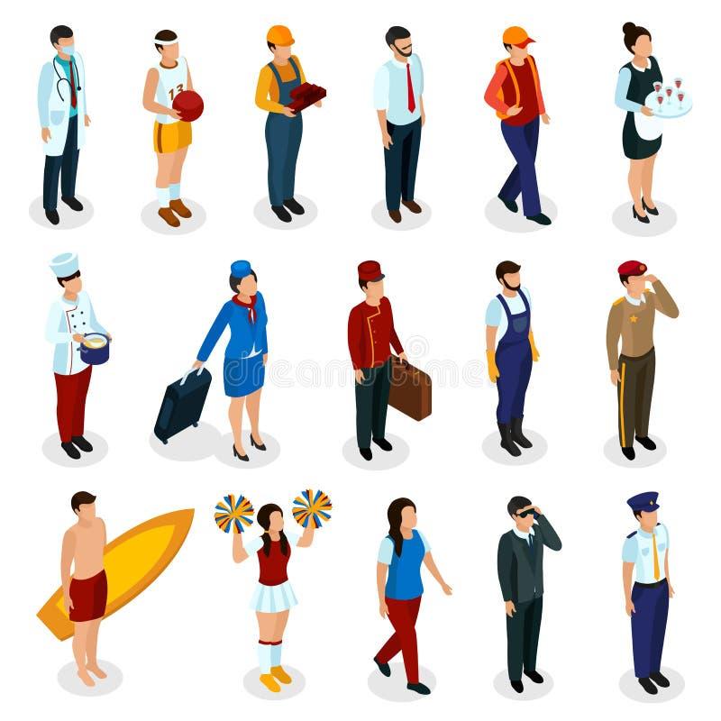 Zawodów Isometric ludzie ilustracji