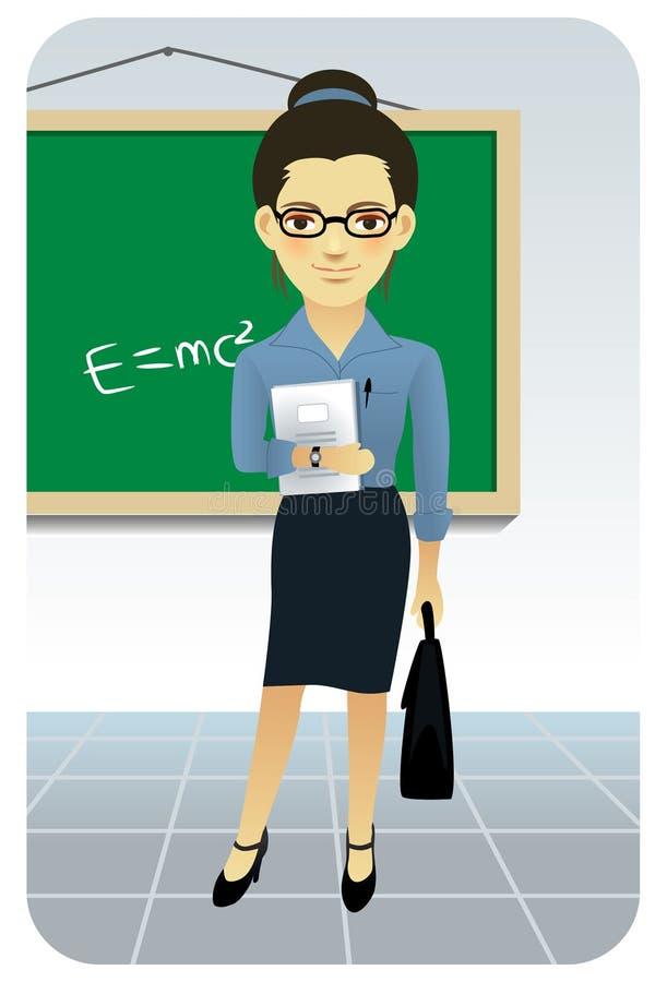 zawodu profesora serii nauczyciel ilustracja wektor
