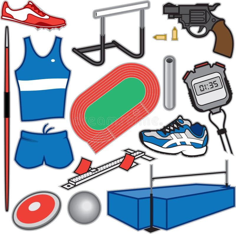 Zawody Atletyczni rzeczy royalty ilustracja