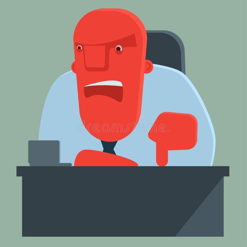 Zawodzący szef ostrzega someone ilustracji