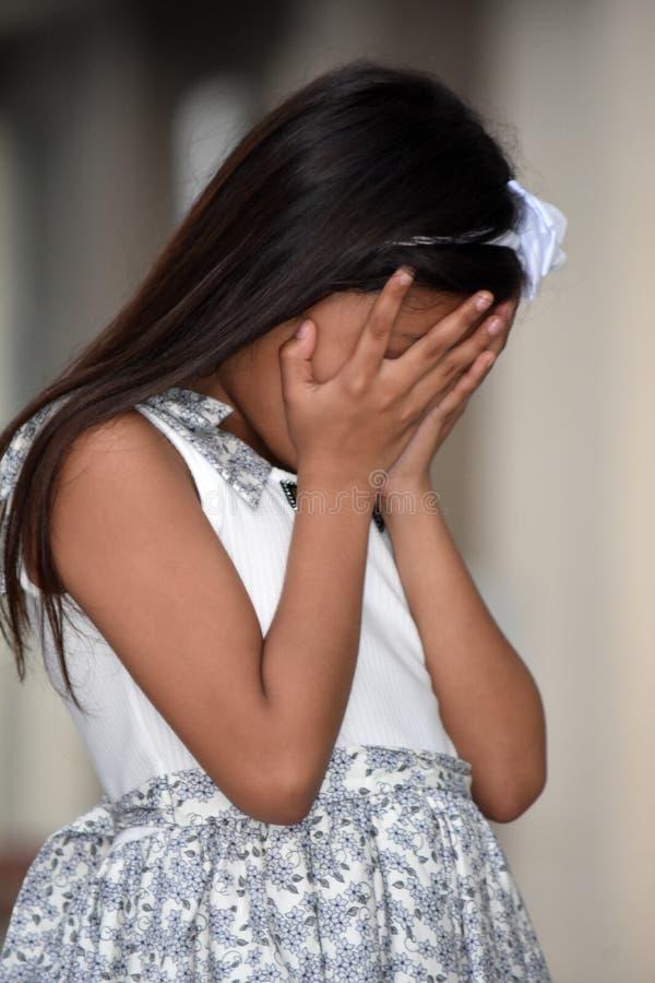 Zawstydzony Ładny Azjatycki dziecko obraz stock