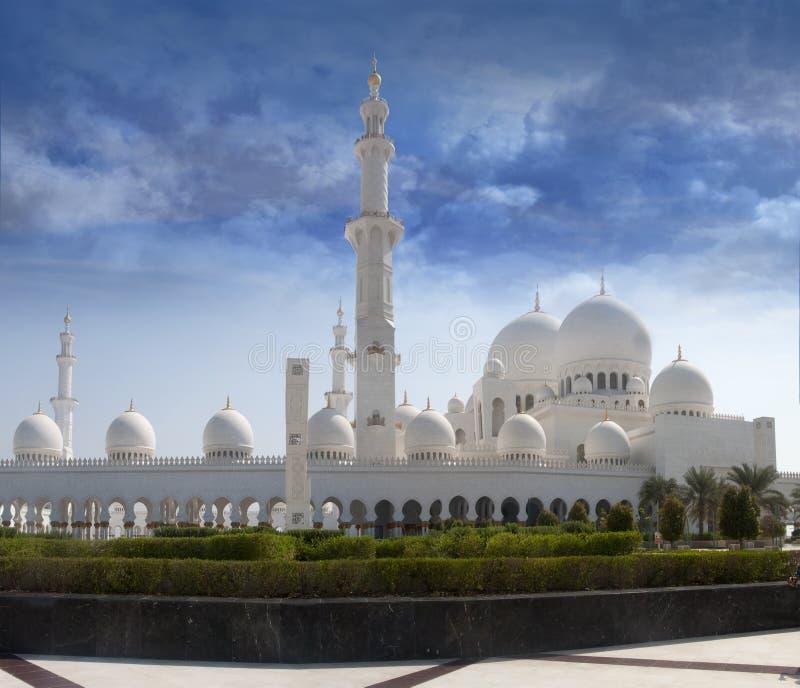 zayed的前清真寺回教族长查阅 库存照片