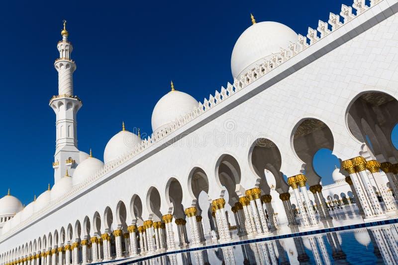 zayed шейх мечети стоковое изображение rf