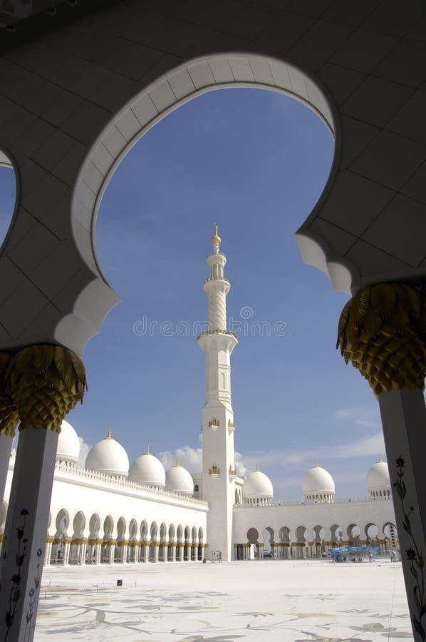 zayed шейх мечети dhabi al abu nahyan стоковое фото rf