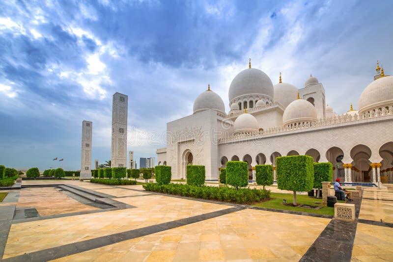 zayed Grand Mosque回教族长在阿布扎比 图库摄影