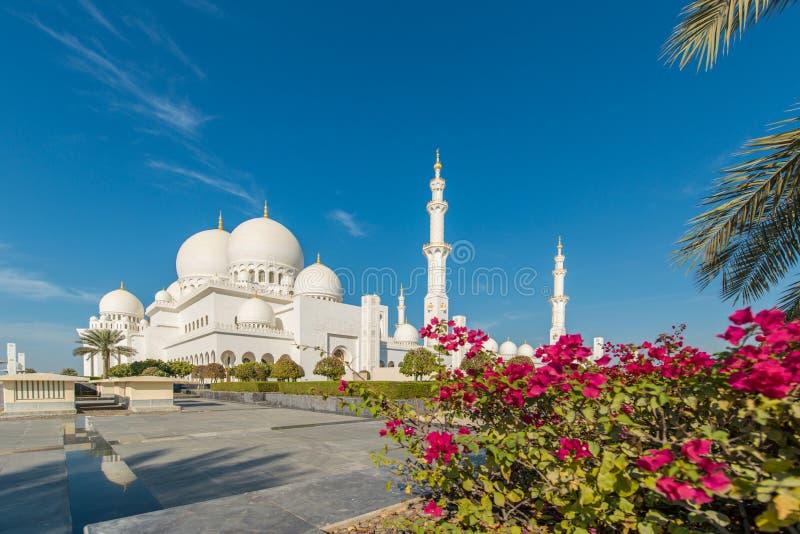 zayed Mosque回教族长在阿布扎比 图库摄影
