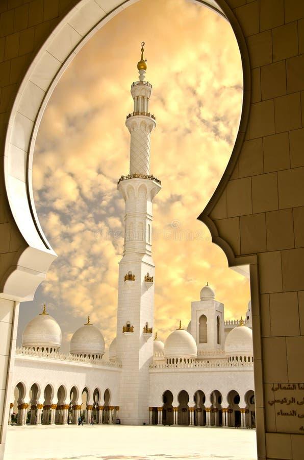 zayed sheikh för moské för abustadsdhabi royaltyfria bilder