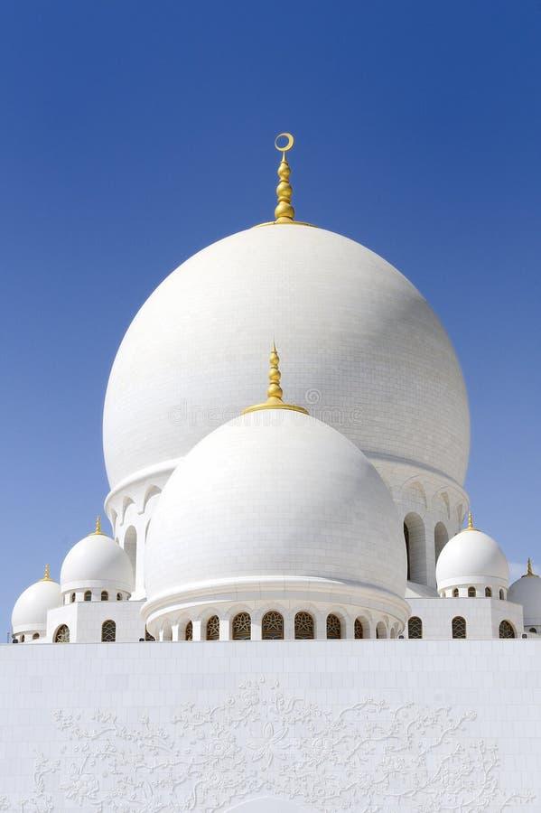 zayed sheikh meczetowy biel obrazy royalty free