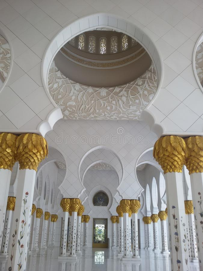Zayed Zayed Mosque. Abu Dhabi Sheikh Zayed White Mosque stock image