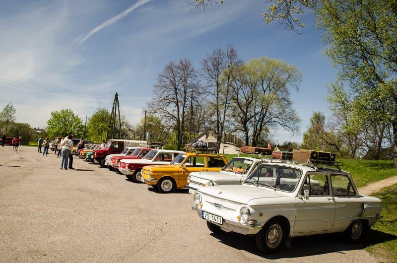 ZAZ在斯克伦达,拉脱维亚 免版税库存照片