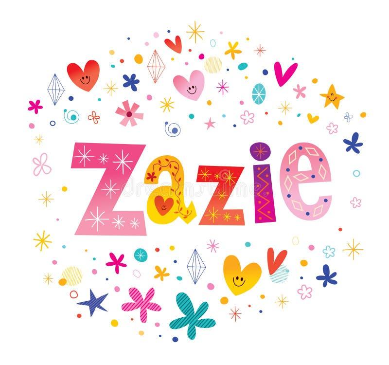 Zazie女孩命名 皇族释放例证