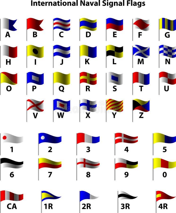 zaznacza międzynarodowego morskiego sygnał royalty ilustracja