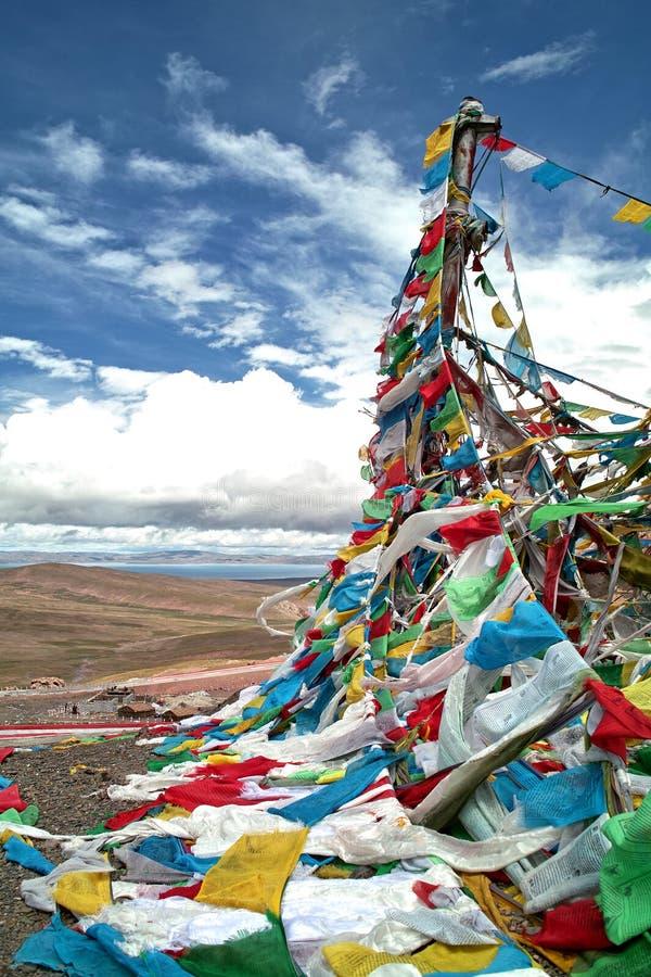 zaznacza modlitewnego Tibet zdjęcia royalty free