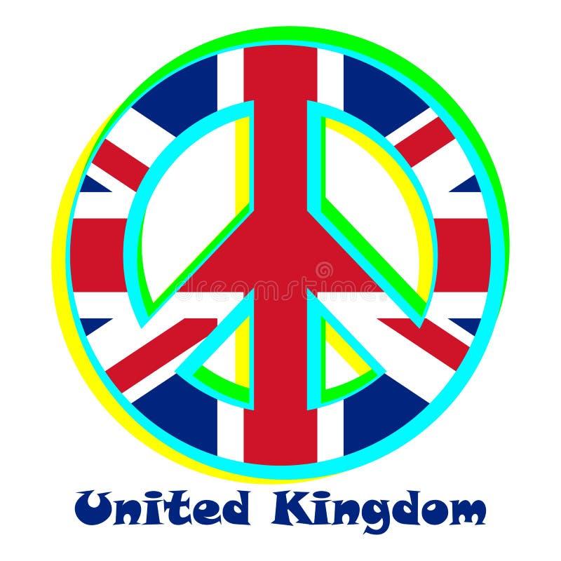 Zaznacza Zjednoczone Królestwo jako znak pacyfizm ilustracji