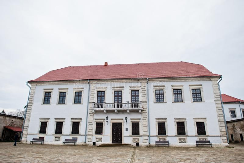 Zbarazh, de Oekraïne - Juli 24, 2018: Oud huis of museum royalty-vrije stock afbeeldingen
