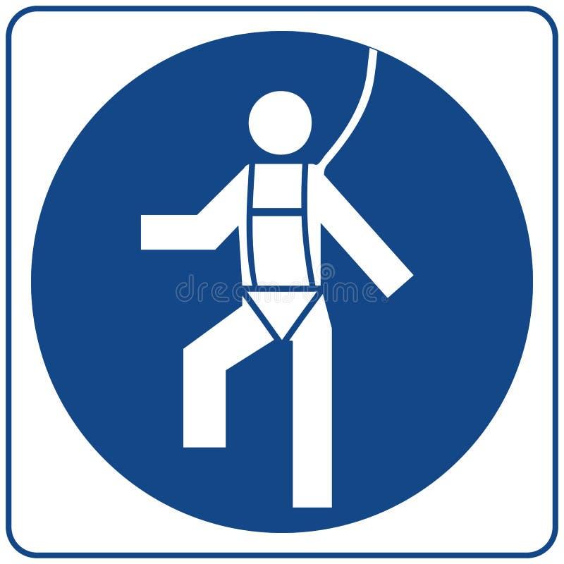 Zbawcza nicielnica Musi Będąca ubranym Ewidencyjny obowiązkowy symbol w błękitnym okręgu odizolowywającym na bielu Zawiadomienie  ilustracji