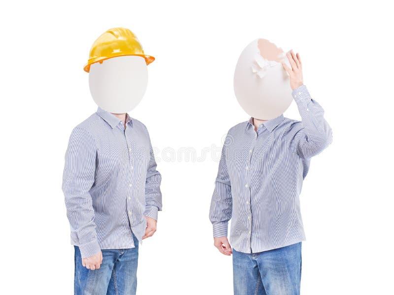 Zbawczy pojęcie, hełma kapelusz dla zbawczego projekta robociarz jak, inżyniera lub pracownik fotografia stock