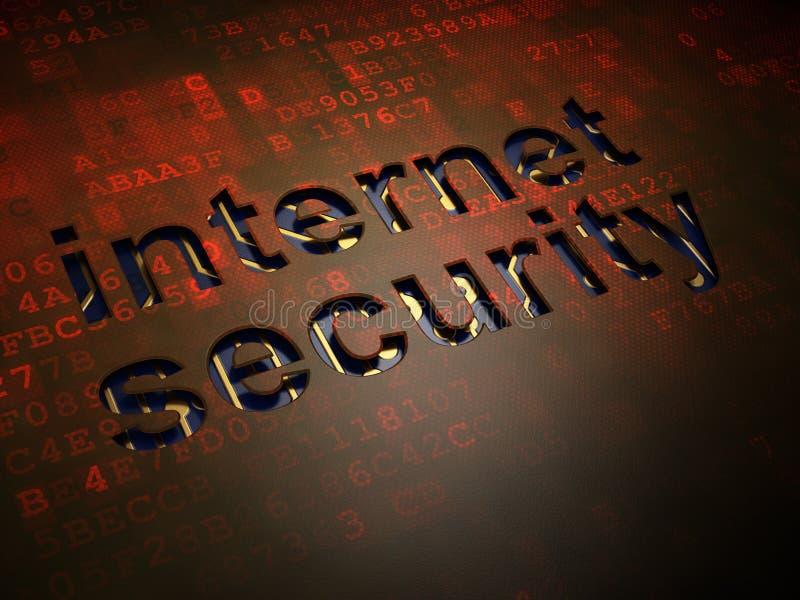 Zbawczy pojęcie: Internetowa ochrona na cyfrowym parawanowym tle obrazy stock