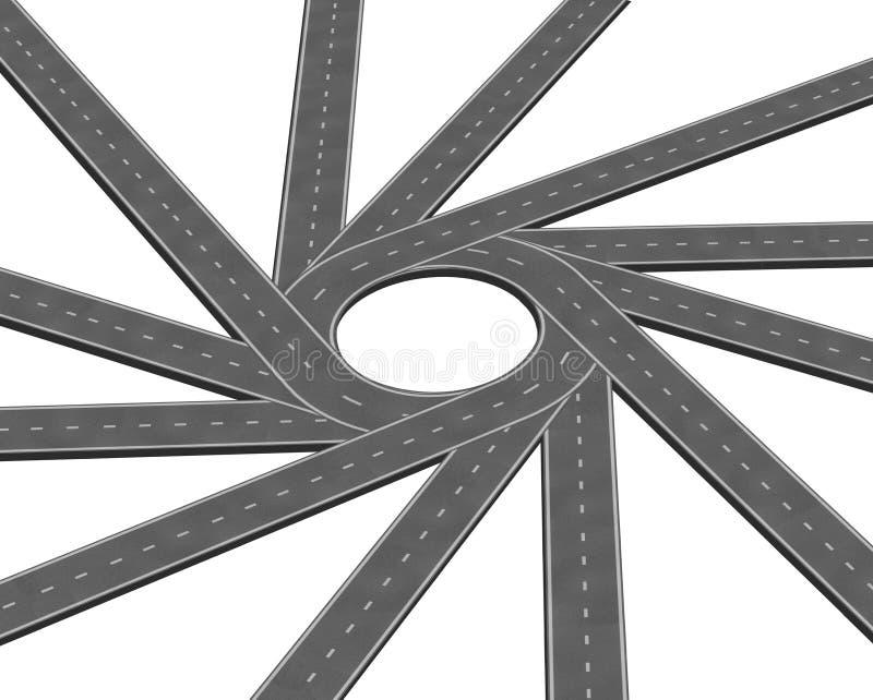 Zbieżna droga ilustracja wektor