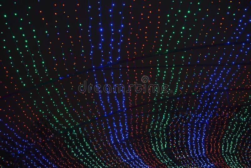 Zbiegać się strumienie światło zdjęcie royalty free