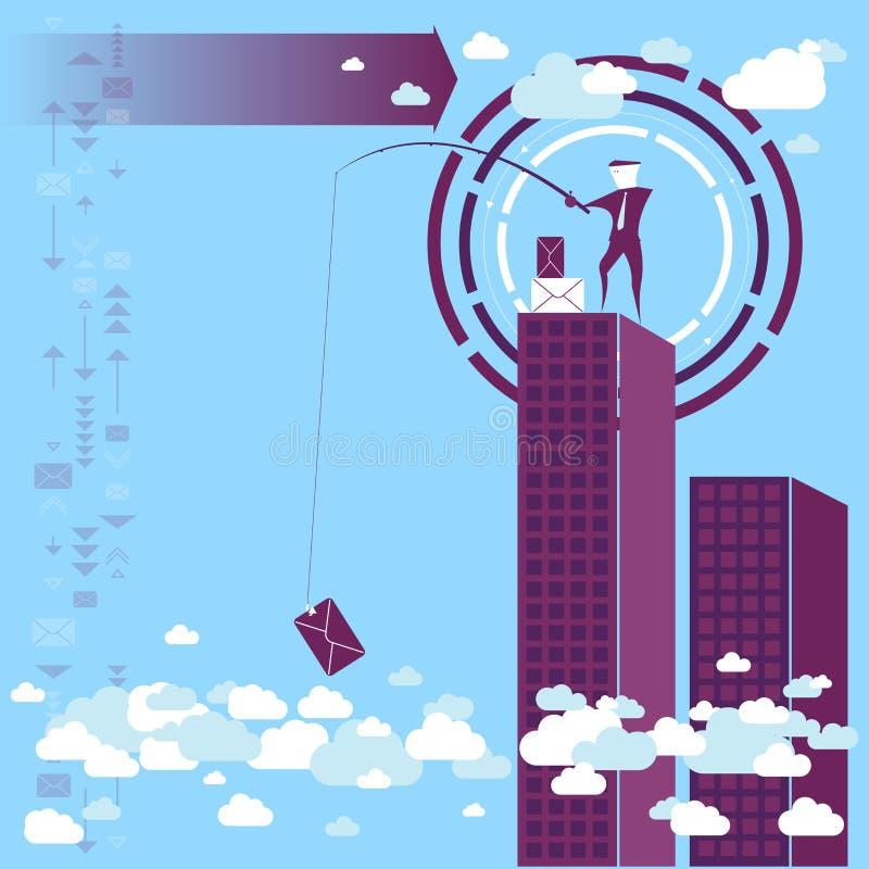 Zbieraccy dane od chmury ilustracja wektor