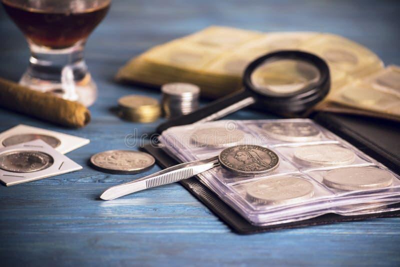 Zbierackie stare monety zdjęcie stock